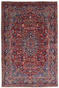 Mashad Matto 196X290 Itämainen Käsinsolmittu Tummanpunainen/Tummanharmaa (Villa, Persia/Iran)