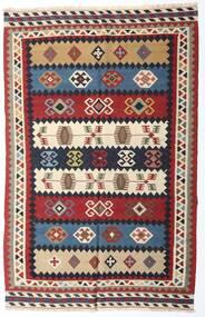 Kelim Vintage Matto 153X235 Itämainen Käsinkudottu Tummanpunainen/Tummanvioletti (Villa, Persia/Iran)