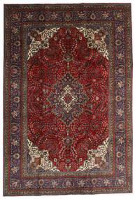 Tabriz Matto 200X297 Itämainen Käsinsolmittu Tummanpunainen/Musta (Villa, Persia/Iran)