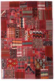 Tekkeh Kelim Matto 200X300 Moderni Käsinkudottu Tummanpunainen/Tummanruskea (Villa, Persia/Iran)