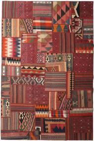 Tekkeh Kelim Matto 198X300 Moderni Käsinkudottu Tummanpunainen/Tummanruskea (Villa, Persia/Iran)