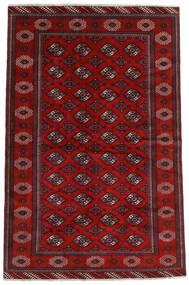 Turkaman Matto 194X293 Itämainen Käsinsolmittu Tummanpunainen/Ruoste (Villa, Persia/Iran)