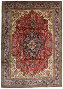 Tabriz Matto 254X357 Itämainen Käsinsolmittu Tummanruskea/Oliivinvihreä Isot (Villa, Persia/Iran)