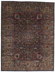Kashmar Matto 303X391 Itämainen Käsinsolmittu Tummanruskea/Tummanharmaa Isot (Villa, Persia/Iran)