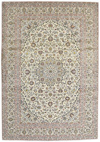 Keshan Matto 250X360 Itämainen Käsinsolmittu Vaaleanharmaa/Beige Isot (Villa, Persia/Iran)