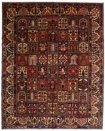 Bakhtiar Matto 317X392 Itämainen Käsinsolmittu Tummanruskea/Tummanpunainen Isot (Villa, Persia/Iran)