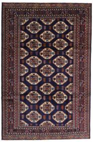 Turkaman Matto 247X378 Itämainen Käsinsolmittu Tummanvioletti/Tummanruskea (Villa, Persia/Iran)
