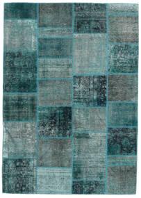 Patchwork - Persien/Iran Matto 167X236 Moderni Käsinsolmittu Siniturkoosi/Tumma Turkoosi (Villa, Persia/Iran)