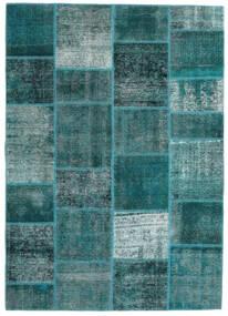 Patchwork - Persien/Iran Matto 165X233 Moderni Käsinsolmittu Tumma Turkoosi/Siniturkoosi (Villa, Persia/Iran)