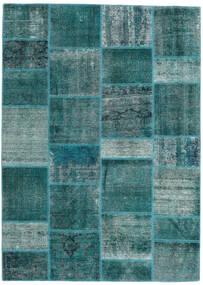 Patchwork - Persien/Iran Matto 167X231 Moderni Käsinsolmittu Tumma Turkoosi/Siniturkoosi (Villa, Persia/Iran)