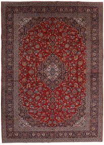 Keshan Matto 299X416 Itämainen Käsinsolmittu Tummanpunainen/Tummanharmaa Isot (Villa, Persia/Iran)