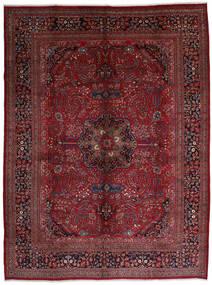 Mashad Matto 306X408 Itämainen Käsinsolmittu Tummanpunainen/Tummanruskea Isot (Villa, Persia/Iran)