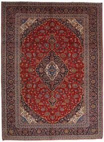 Keshan Matto 305X416 Itämainen Käsinsolmittu Tummanpunainen/Tummanruskea Isot (Villa, Persia/Iran)