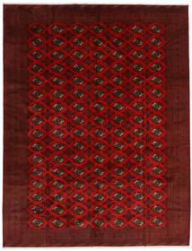 Turkaman Matto 296X383 Itämainen Käsinsolmittu Tummanpunainen/Tummanruskea Isot (Villa, Persia/Iran)