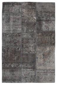 Patchwork - Persien/Iran Matto 105X159 Moderni Käsinsolmittu Tummanharmaa/Musta (Villa, Persia/Iran)
