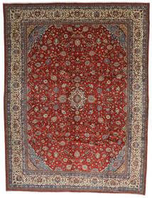 Sarough Matto 325X425 Itämainen Käsinsolmittu Tummanruskea/Tummanpunainen Isot (Villa, Persia/Iran)