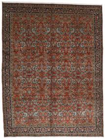 Tabriz Matto 302X396 Itämainen Käsinsolmittu Tummanpunainen/Tummanruskea Isot (Villa, Persia/Iran)