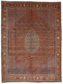 Bidjar Matto 308X408 Itämainen Käsinsolmittu Tummanpunainen/Tummanruskea Isot (Villa, Persia/Iran)