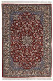 Isfahan Sherkat Farsh Matto 200X300 Itämainen Käsinsolmittu Tummanpunainen/Tummanruskea (Villa/Silkki, Persia/Iran)