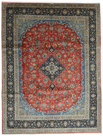 Keshan Matto 296X388 Itämainen Käsinsolmittu Tummanharmaa/Tummanvihreä Isot (Villa, Persia/Iran)