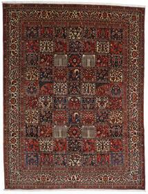 Bakhtiar Matto 298X390 Itämainen Käsinsolmittu Tummanruskea/Tummanpunainen Isot (Villa, Persia/Iran)