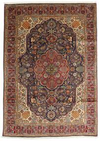 Tabriz Matto 200X280 Itämainen Käsinsolmittu Tummanruskea/Vaaleanruskea (Villa, Persia/Iran)
