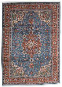 Tabriz Matto 204X290 Itämainen Käsinsolmittu Tummanharmaa/Vaaleanharmaa (Villa, Persia/Iran)