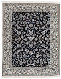 Nain 9La Matto 203X255 Itämainen Käsinsolmittu Vaaleanharmaa/Tummanharmaa/Musta (Villa/Silkki, Persia/Iran)