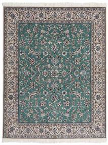 Nain 9La Matto 193X245 Itämainen Käsinsolmittu Tummanharmaa/Vaaleanharmaa (Villa/Silkki, Persia/Iran)
