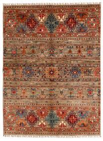 Shabargan Matto 153X209 Moderni Käsinsolmittu Tummanruskea/Vaaleanruskea (Villa, Afganistan)