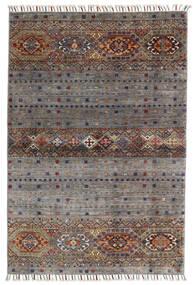 Shabargan Matto 102X146 Moderni Käsinsolmittu Tummanharmaa/Vaaleanharmaa (Villa, Afganistan)