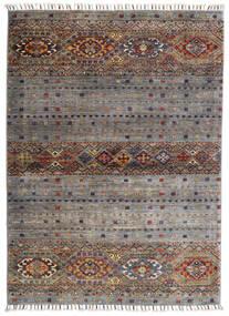 Shabargan Matto 102X146 Moderni Käsinsolmittu Vaaleanharmaa/Tummanharmaa (Villa, Afganistan)