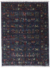 Shabargan Matto 154X205 Moderni Käsinsolmittu Tummansininen/Tummanharmaa (Villa, Afganistan)