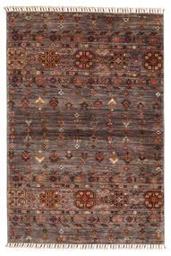 Shabargan Matto 103X153 Moderni Käsinsolmittu Tummanruskea/Vaaleanruskea (Villa, Afganistan)