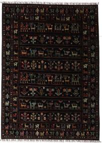 Shabargan Matto 150X205 Moderni Käsinsolmittu Tummanruskea (Villa, Afganistan)