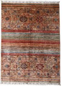 Shabargan Matto 148X199 Moderni Käsinsolmittu Tummanruskea/Tummanpunainen (Villa, Afganistan)