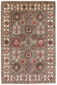 Kazak Matto 121X181 Itämainen Käsinsolmittu Vaaleanharmaa/Vaaleanruskea (Villa, Afganistan)
