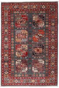 Kazak Matto 117X173 Itämainen Käsinsolmittu Tummanpunainen/Tummanruskea (Villa, Afganistan)