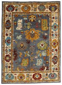 Kazak Matto 303X419 Itämainen Käsinsolmittu Ruskea/Musta Isot (Villa, Afganistan)