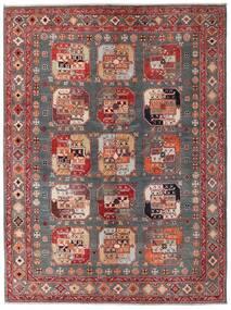 Kazak Matto 152X202 Itämainen Käsinsolmittu Tummanpunainen/Ruskea (Villa, Afganistan)