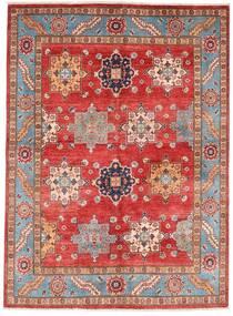 Kazak Matto 151X206 Itämainen Käsinsolmittu Tummanpunainen/Ruoste (Villa, Afganistan)