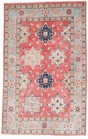 Kazak Matto 121X190 Itämainen Käsinsolmittu Vaaleanharmaa/Vaaleanpunainen (Villa, Afganistan)