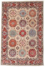 Kazak Matto 118X179 Itämainen Käsinsolmittu Tummanruskea/Vaaleanharmaa (Villa, Afganistan)