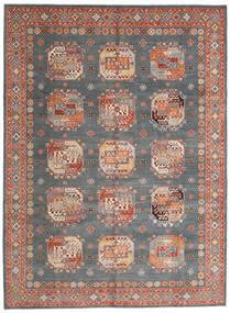Kazak Matto 246X333 Itämainen Käsinsolmittu Tummanvihreä/Tummanpunainen (Villa, Afganistan)