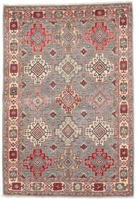 Kazak Matto 121X177 Itämainen Käsinsolmittu Vaaleanharmaa/Tummanpunainen (Villa, Afganistan)