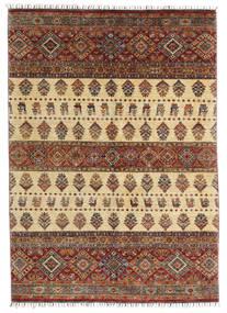 Shabargan Matto 170X240 Moderni Käsinsolmittu Tummanruskea/Vaaleanruskea (Villa, Afganistan)