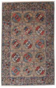 Kazak Matto 115X182 Itämainen Käsinsolmittu Vaaleanharmaa/Tummanruskea (Villa, Afganistan)