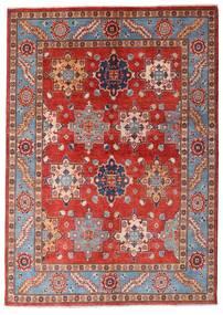 Kazak Matto 144X203 Itämainen Käsinsolmittu Tummanpunainen/Ruoste (Villa, Afganistan)