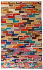 Moroccan Berber - Afghanistan Matto 133X216 Moderni Käsinsolmittu Tummanharmaa/Punainen (Villa, Afganistan)