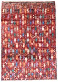 Moroccan Berber - Afghanistan Matto 115X169 Moderni Käsinsolmittu Tummanpunainen/Ruoste (Villa, Afganistan)
